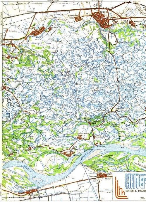 Карты Заяр - Заплавное - Бахтияровка - Ленинск - Маляевка