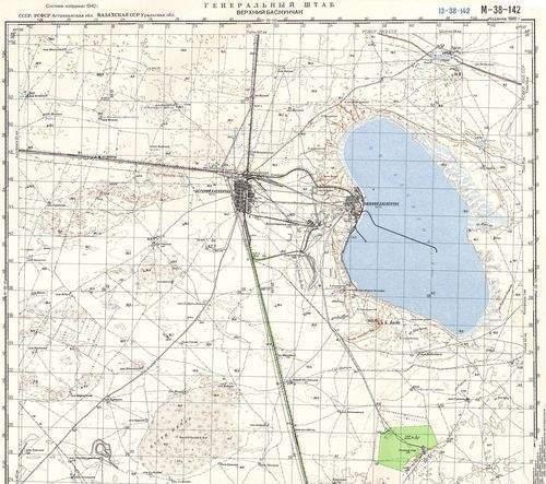 Карта Район оз.Баскунчак 1:100000