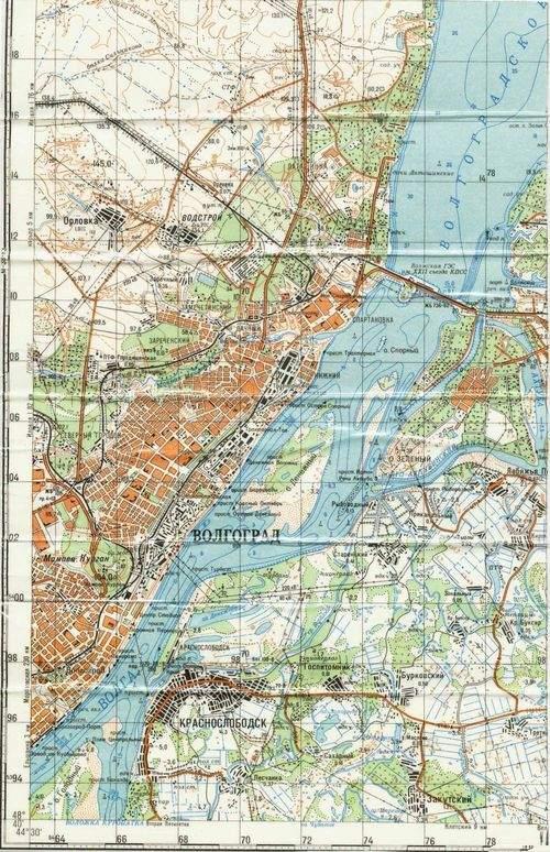 карта Волгограда и
