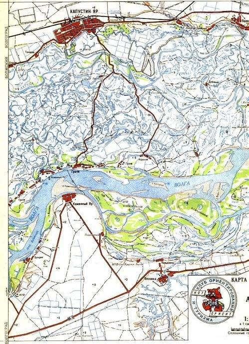 Карты Токарев - Кап. Яр - Пологое займище. Бундин - Каменный Яр - Вязовка, Грачи