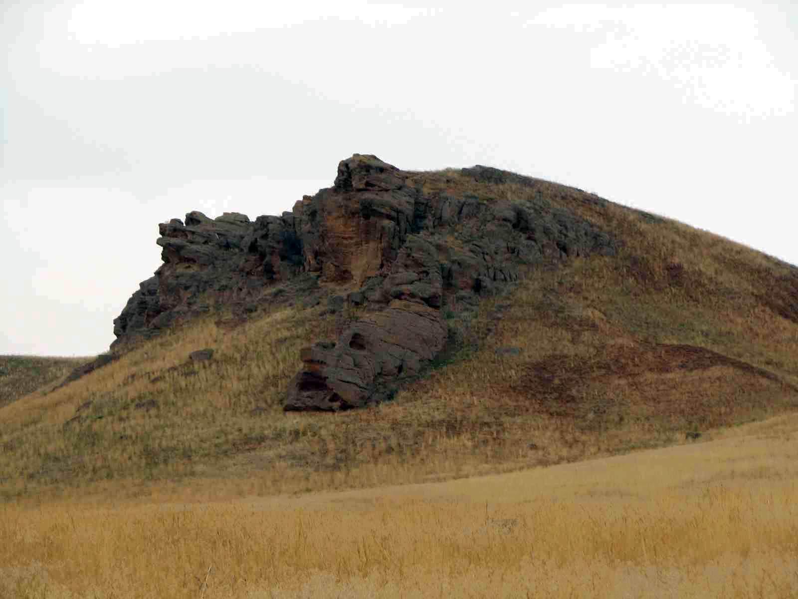 Лицо - гора Большое Богдо