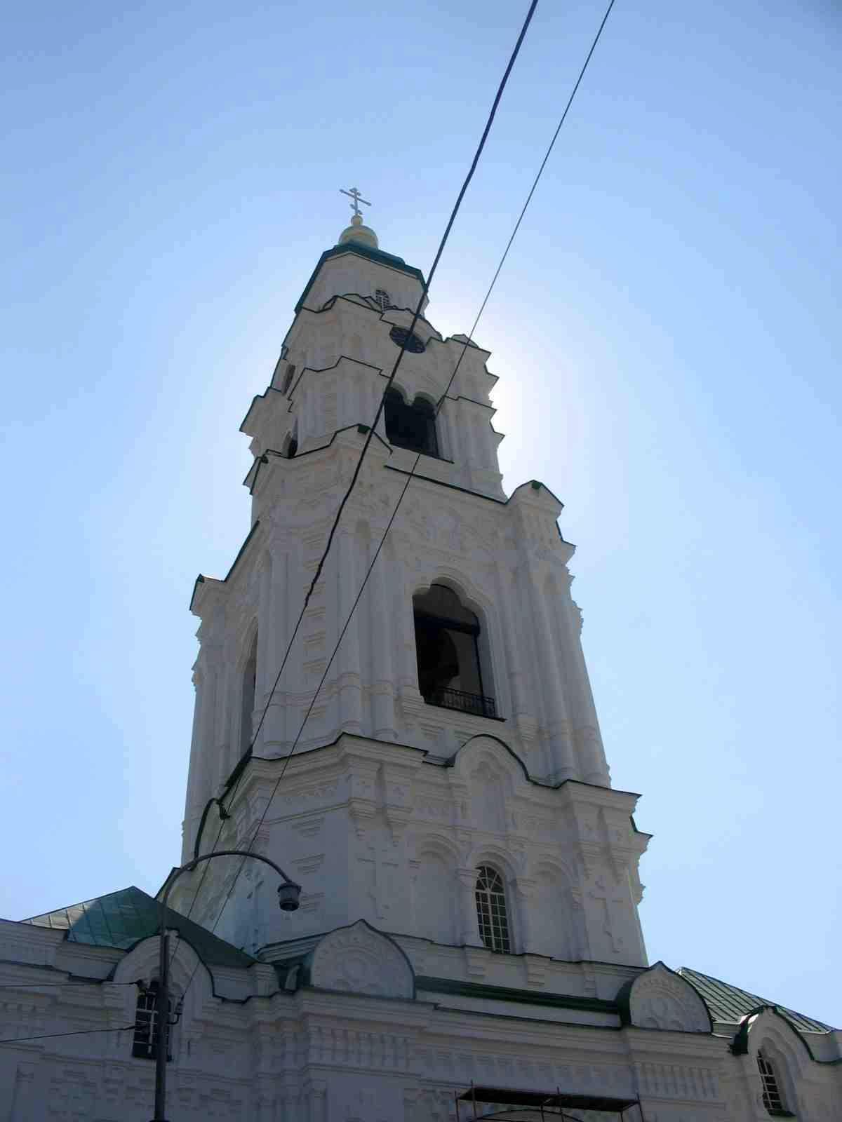 Соборная колокольня с Пречистенскими воротами. Город Астрахань, Кремль.