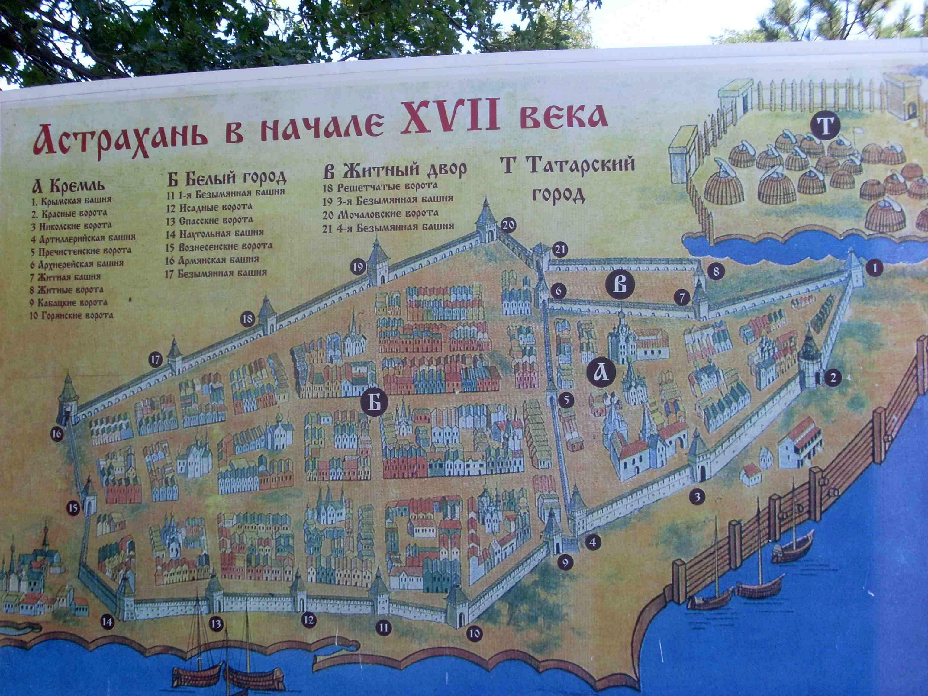 План города Астрахань в начале 17 века